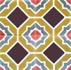 Victorian,Bladosas, Encaustic Andalusian Tiles for both the floor and wall.MOD 107.