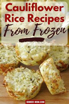 Use a bag of cauliflower rice from the freezer aisle to make amazing low-carb cauliflower recipes.faster and easier! Tips to make everything from pizza crust and cauli-tots! Cauli Tots, Frozen Cauliflower Rice, Cauliflower Crust Pizza, Mashed Cauliflower, Cauliflower Recipes, Califlower Rice, Low Carb Dinner Recipes, Rice Recipes, Freezer