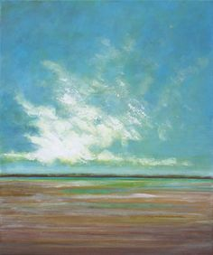 Abstract Landscape Painting  Beach and Sky  by SageMountainStudio, $210.00