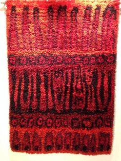 Ryijy Ulla Härkönen: Liekehtivä Rugs On Carpet, Carpets, Wall Rugs, Rya Rug, Birches, Textiles, Rug Hooking, Floor Rugs, Seas