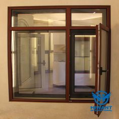 Decorative brown color aluminium profile for doors and windows that especially used in luxury villa projects.