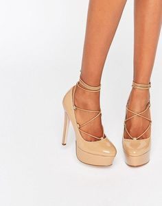 Asos Party All Night Lace Up Platforms 71bdf86305d
