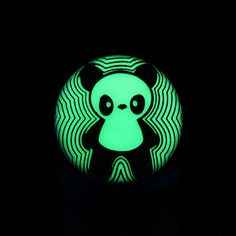 Glow in the Dark Panda Single Flared Ear Gauge Plug #eargauge #bodymods #bodyjewelry #earplugs