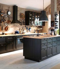 Image Result For Lerhyttan Kitchen Black Home Decor Kitchens