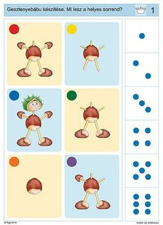 Logico Primo / játék / Fórum Logic Games, Logic Puzzles, Kindergarten, Sequencing Cards, Critical Thinking, Speech Therapy, Motor Skills, Kids Learning, Worksheets