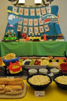 Planes, Trains, and Automobiles Birthday Party Ideas | Photo 23 of 44 | Catch My Party