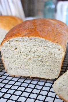 Bread made with chia, flax, and quinoa
