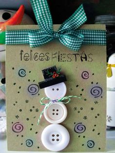 20 Amazing handmade Christmas cards that your friends and family will love! These handmade christmas cards are the perfect Christmas gift! Christmas Card Crafts, Homemade Christmas Cards, Christmas Cards To Make, Homemade Cards, Handmade Christmas, Holiday Crafts, Christmas Crafts, Christmas Ornaments, Christmas Snowman