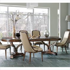 Avalon Heights-Art Epoch Pedestal Table in Chelsea - 193-11-36 - Dining Room - Stanley Furniture