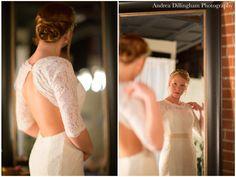 Lace vintage wedding dress | Marla + CJ | Wedding | ©2014 Andrea Dillingham Photography Girls Dresses, Flower Girl Dresses, Engagements, Wedding Engagement, One Shoulder Wedding Dress, Weddings, Wedding Dresses, Lace, Photography