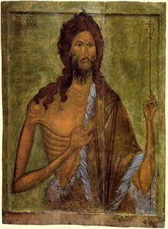 Orthodox icons / Ryazan icons / The icon of John the Baptist from Assumption Cathedral of the Ryazan Kremlin. Ryazan Historical and Architectural Museum-Reserve Medieval Paintings, Renaissance Paintings, Byzantine Art, Byzantine Icons, Religious Icons, Religious Art, Orthodox Catholic, Orthodox Christianity, 16th Century
