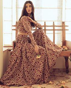 Items similar to Hand Block Printed Floral Indian Lehenga Set in Cotton on Etsy Cotton Lehenga, Floral Lehenga, Lehenga Skirt, Bridal Lehenga, Anarkali, Choli Dress, Ghagra Choli, Saree Blouse, Indian Lehenga