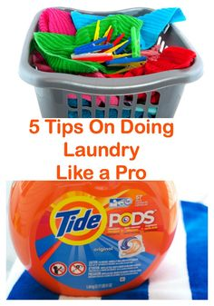 #LaundryRedefined #Ad 5 Tips on Doing Laundry Like a Pro -  No more dingy clothes! Tip #5 - Always use @Tide Pods!