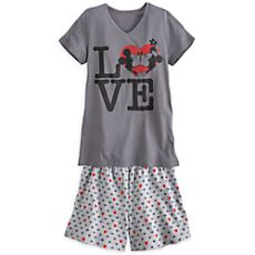 Mickey Mouse and Minnie Tee and Shorts Set for Women