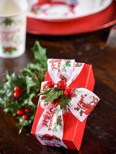 "Dekoband ""Joyeux Noel"" 5 m #Geschenkband #Geschenkverpackung #Weihnachtsgeschenk #Wichtelgeschenk"