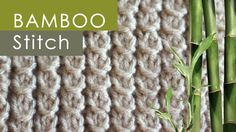 How to Knit the Bamboo Stitch with Free Knitting Pattern + Video Tutorial for beginning knitters by Studio Knit