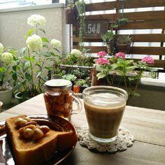 バルコニー/ベランダの画像 by raranさん   バルコニー/ベランダと多肉植物とカフェみたいな暮らしコンテストと多肉植物寄せ植えとアジサイ 紫陽花と花のある暮らし