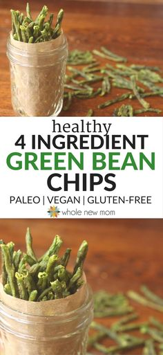 Can't Stop Eating 'Em Crispy Green Bean Chips Healthy Veggie Chips! Get more veggies into your diet with these Crispy Green Bean Chips–a great healthy snack that's easy to make! Crispy Green Beans, Healthy Green Beans, Dehydrated Food, Dehydrated Bananas, Bean Recipes, Paleo Recipes, Whole Food Recipes, Snack Recipes, Keto Snacks