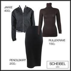 Scheibel Cph, autumn outfit, fashion inspiration, turtelneck, bomber jacket, black pencilskirt, skandinavian style, style inspiration