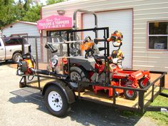 Our utility trailers are perfect for hauling lawn equipment! #utilitytrailer #trailer