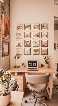 Interior Design Minimalist, Interior Desing, Home Interior, Interior Office, Interior Ideas, Study Room Decor, Room Ideas Bedroom, Diy Bedroom Decor, Bedroom Small