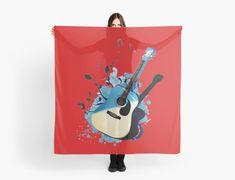 « Blue guitar - guitare - musique- instrument » par LEAROCHE Instruments, Blue, Art, Guitar, Music, Products, Art Background, Kunst, Performing Arts