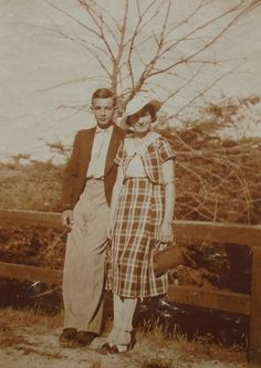 1930's French Photo  Couple in the Countryside by ChicEtChoc