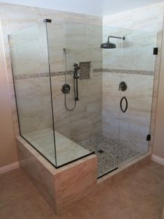 Shower enclosure with rainfall shower head