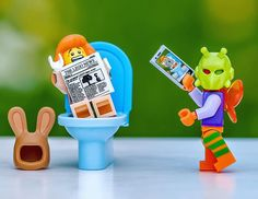 EXTRA! EXTRA! READ ALL ABOUT IT: Killer Moth catches The Easter Bunny on the loo and instantly uploads it to @instagram  It goes #viral  @lego @playmobil  #lego_hub #bricknetwork  #stuckinplastic #lego  #toy_photographers  #brickcentral #brickpichub #toygroup_alliance #toyunion #epictoyart  #legophotography  #toyspotcollector #toydiscovery #instagram #easterbunny  #legophoto  #toyphotohouse  #featurebait #legos #afol #toystagram  #toysaremydrug  #legostagram  #playmobil  #legominifigures…