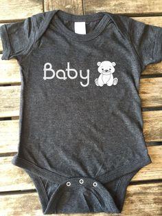 Baby Bear onesie, onesie, Baby Bear, Baby Boy, Baby Girl, Baby Bear Bodysuits Made by Think Elite1. by THINKELITE1 on Etsy