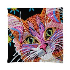 Pink Kitty Scarf by Kelly Nicodemus-Miller on Print All Over Me. #paomscarf #paomcats