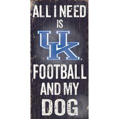Kentucky Wildcats Football & My Dog Sign, Multicolor