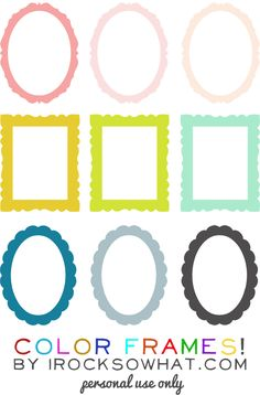 Freebie Color Frames - these aren't actually printables, but I'd say you could use this for scrapbooking or other paper projects as well as online projects