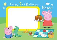 Invitaciones de cumpleaños de Peppa Pig para imprimir gratis Peppa Pig Happy Birthday, Happy Birthday Signs, Birthday Name, Peppa Pig Invitations, Birthday Invitations Kids, Birthday Party Decorations, Invitacion Peppa Pig, Peppa Pig Imagenes, George Pig Party