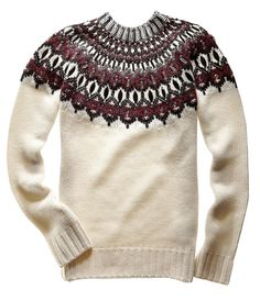 fair isle sweater / SKI LODGE sweater / grey and black / S M L ...