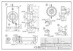 วิจิตร ชัยมงคลมณี : Wijit Chaimongkonmanee: ตัวอย่างแบบงานเขียนแบบ 3d Drawings, Detailed Drawings, Cad Computer, Isometric Drawing, Drawing Machine, Mechanical Design, Technical Drawing, Autocad, Projects To Try
