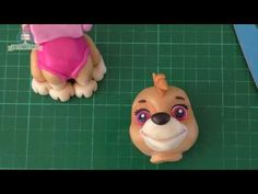 Skye cake topper Paw Patrol cake tutorial - YouTube