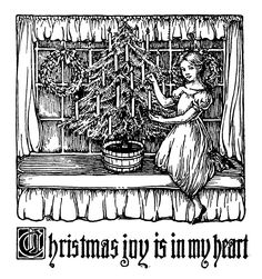 La Bande des Faineantes: Vintage Printable - Christmas joy is in my heart