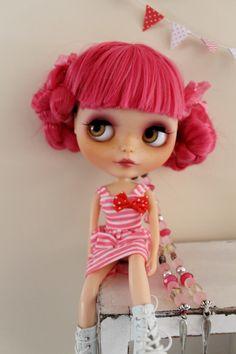 Frenchie a custom factory Blythe doll by WillowDesignstoyshop on Etsy
