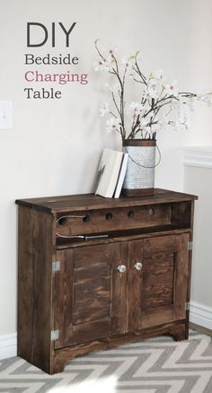 There's nothing better than a vintage piece of furniture updated to work for modern life. Check out this charging station by Ana White from ana-white.com | thisoldhouse.com