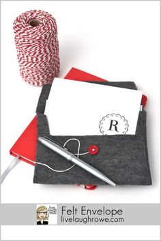 Gray Felt Envelope