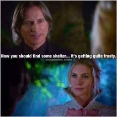 """It's getting frosty here."" Rumple and Snow Queen - 4 * 3 ""Rocky Road."""