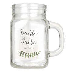 #wedding - #Rustic Ombre Watercolor Forest Wedding Bridesmaid Mason Jar