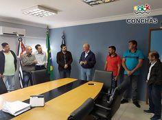 MAIS VERBAS PARA A SAÚDE DE CONCHAS - Na manhã desta sexta feira (9), o Prefeito Odirlei Reis (PSB) e o Vice Prefeito Sandro Del Bem (PPS) receberam a visita do Deputado Federal Herculano Passos (PSD)