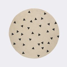 Triangle Round Carpet by Ferm Living
