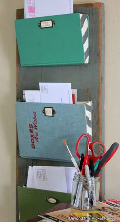 VOTE for this easy, old book mail organizer!