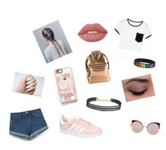 """Back to school outfit"" by fluffyunicornsarelife5 ❤ liked on Polyvore featuring Zara, adidas, Lime Crime, Fendi, Mi-Pac, Casetify and Humble Chic"