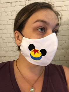 Disney Pixar ball Mickey ear embroidered sweat wicking face   Etsy Diy Face Mask, Face Masks, Disney Dooney, Mickey Ears, My Little Girl, Ear Loop, Disney Pixar, Trending Outfits, Fans
