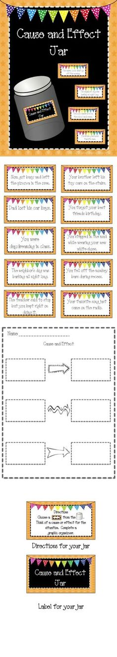A cause and effect activity for workstations or early finishers! by iris-flower