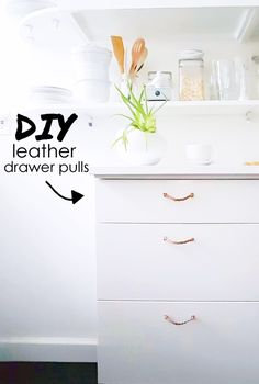 THE DIY LEATHER DRAWER PULLS (handles) THAT I MADE